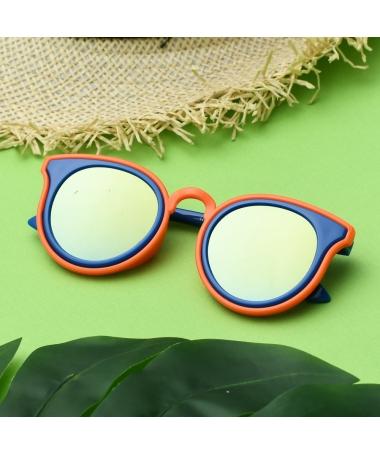 Ochelari De Soare De Copii Doble Albastru Cu Galben - Trendmall.ro