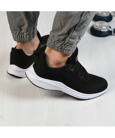 Pantofi Sport De Barbati Tomi Negru Cu Alb - Trendmall.ro