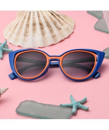 Ochelari De Soare De Copii Doble 2 Albastru Cu Portocaliu - Trendmall.ro