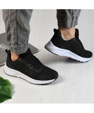 Pantofi Sport De Barbati Ombre Negru Cu Alb - Trendmall.ro