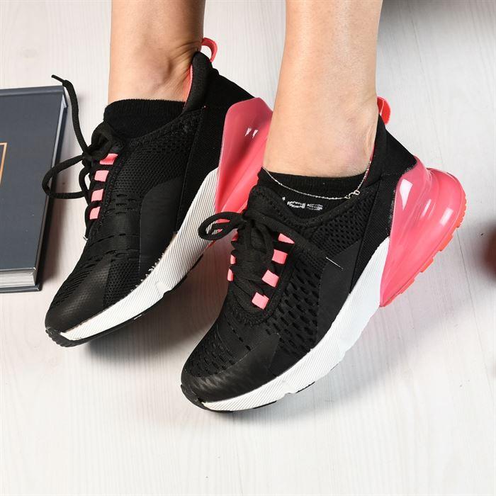 Pantofi Sport De Dama Pops Negru Cu Rosu - Trendmall.ro