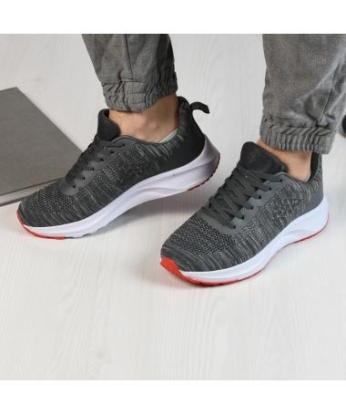 Pantofi Sport De Barbati Ombre Gri Inchis - Trendmall.ro