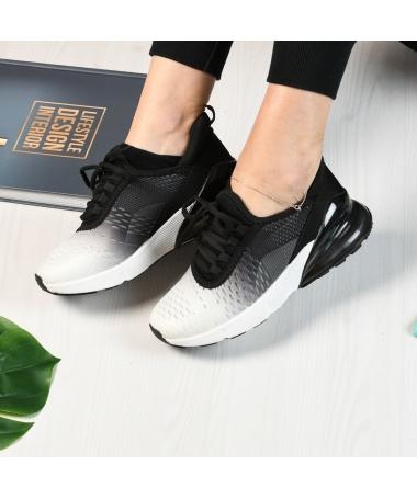 Pantofi Sport De Dama Pops Albi Cu Negru - Trendmall.ro