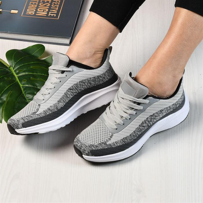 Pantofi Sport De Dama Tomi Gri - Trendmall.ro