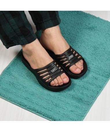 Papuci De Barbati Croco Negri - Trendmall.ro