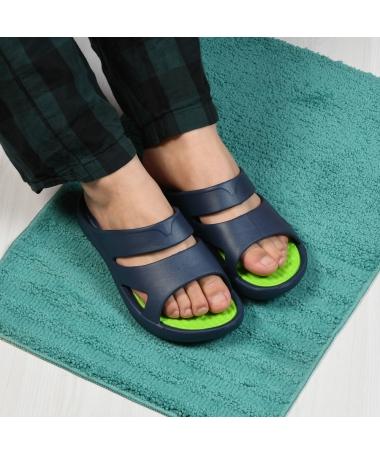 Papuci De Barbati Flag Albastri cu Verde - Trendmall.ro