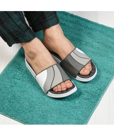Papuci De Barbati Kam Gri - Trendmall.ro