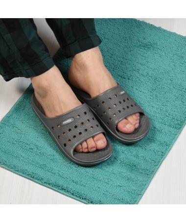 Papuci De Barbati Round Gri - Trendmall.ro