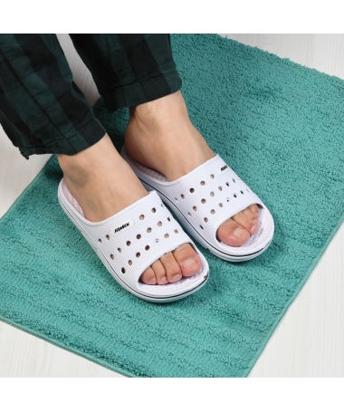 Papuci De Barbati Round Alb - Trendmall.ro