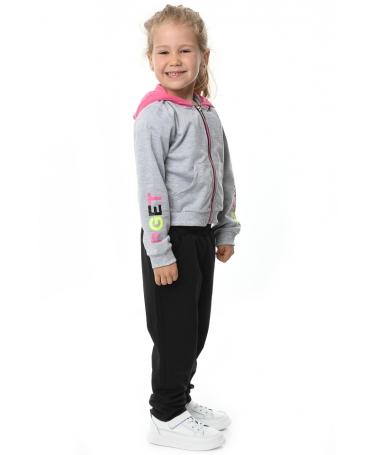 Trening De Copii Ania Gri Cu Negru - Trei Piese - Trendmall.ro