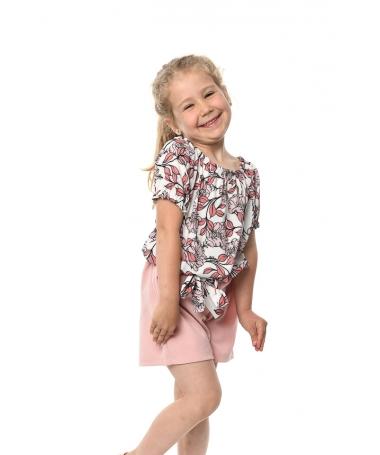 Compleu De Copii Alma Roz Cu Alb - Trendmall.ro