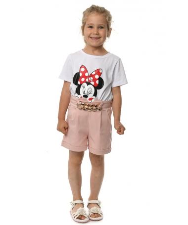 Pantaloni Scurti De Copii Aura Roz - Trendmall.ro