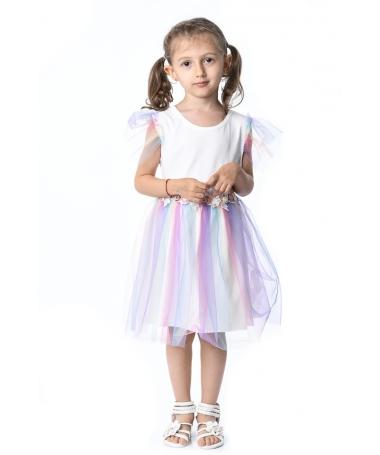 Rochie De Copii Lori Alba - Trendmall.ro