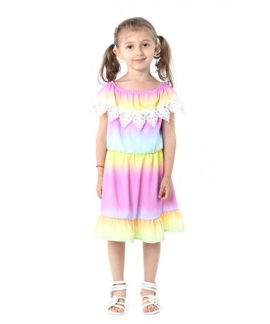 Rochie De Copii Lili Multicolora - Trendmall.ro