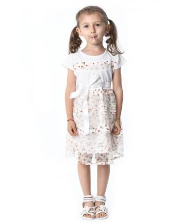 Rochie De Copii Erica Alba - Trendmall.ro