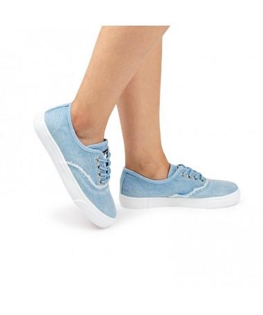 Tenisi De Dama Starr Jeans Albastru Deschis - Trendmall.ro