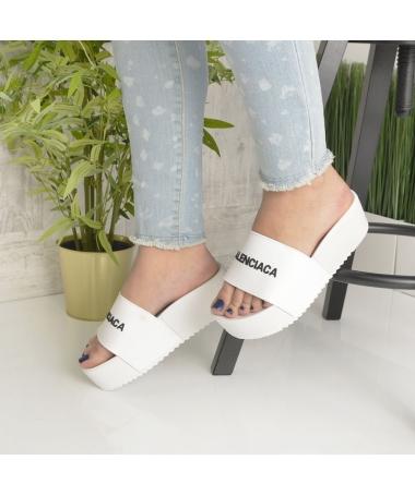 Papuci De Dama Balen Albi - Trendmall.ro