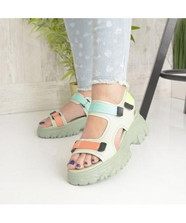 Sandale Cu Platforma De Dama Jamila Verzi - Trendmall.ro