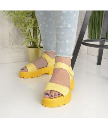 Sandale Cu Platforma De Dama Rosalia Galbene - Trendmall.ro