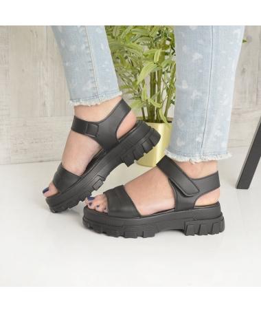 Sandale Cu Platforma De Dama Rosalia Negre - Trendmall.ro