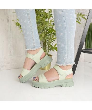 Sandale Cu Platforma De Dama Rosalia Verzi - Trendmall.ro