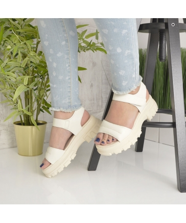 Sandale Cu Platforma De Dama Rosalia Bej - Trendmall.ro