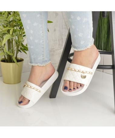 Papuci De Dama Miriam Albi - Trendmall.ro