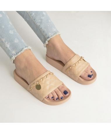 Papuci De Dama Miriam Khaki - Trendmall.ro