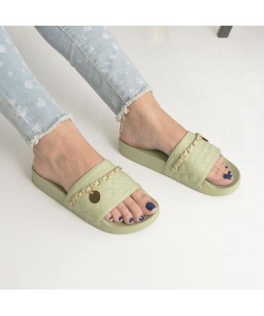 Papuci De Dama Miriam Verzi - Trendmall.ro