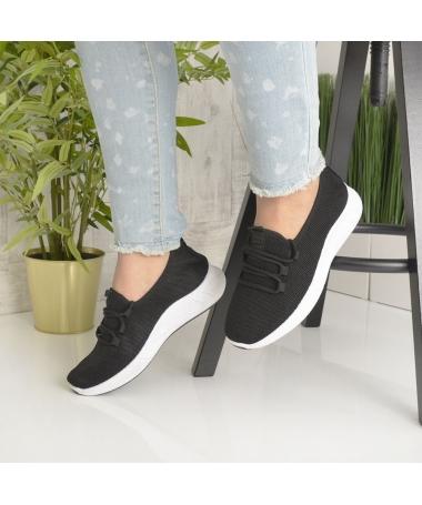 Pantofi Sport De Dama Cindy Negru Cu Alb - Trendmall.ro