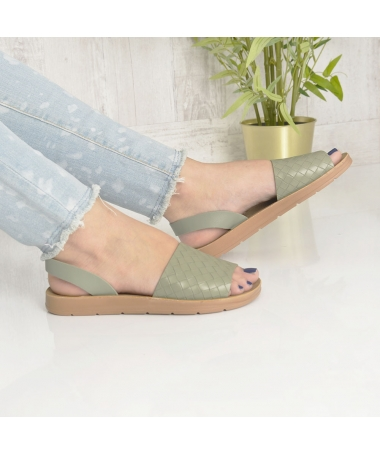 Sandale De Dama Sanzy Verzi - Trendmall.ro