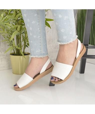 Sandale De Dama Sanzy Albe - Trendmall.ro