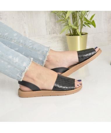 Sandale De Dama Sanzy Negre - Trendmall.ro