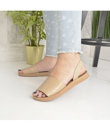 Sandale De Dama Sanzy Khaki - Trendmall.ro