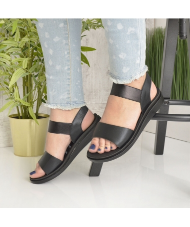 Sandale De Dama Zenda Negre - Trendmall.ro