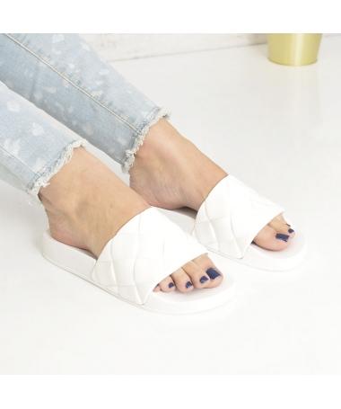 Papuci De Dama Sonia Albi - Trendmall.ro