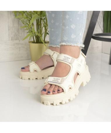 Sandale Cu Platforma De Dama Zubi Bej - Trendmall.ro