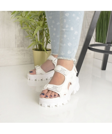Sandale Cu Platforma De Dama Zubi Albe - Trendmall.ro