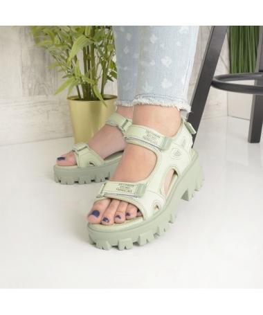 Sandale Cu Platforma De Dama Zubi Verzi - Trendmall.ro