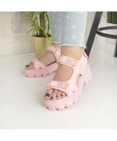 Sandale Cu Platforma De Dama Zubi Roz - Trendmall.ro