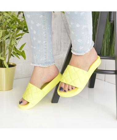 Papuci De Dama Sonia Galbeni - Trendmall.ro