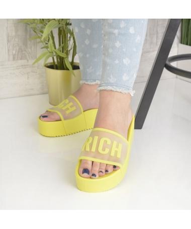 Papuci De Dama Rich Galbeni - Trendmall.ro