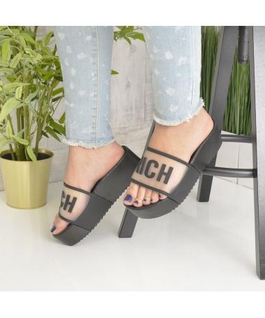 Papuci De Dama Rich Negri - Trendmall.ro