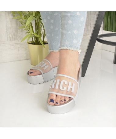 Papuci De Dama Rich Gri - Trendmall.ro
