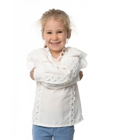 Camasa De Copii Camila Alba - Trendmall.ro