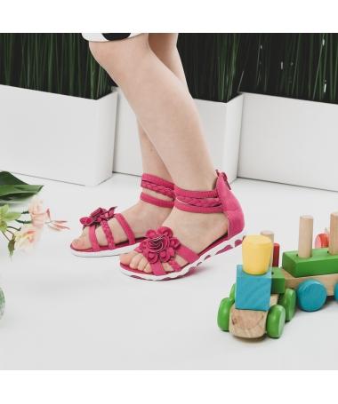 Sandale De Copii Florali Fuchsia - Trendmall.ro