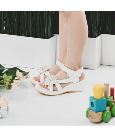Sandale De Copii Cleo Albe - Trendmall.ro