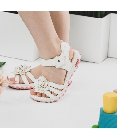 Sandale De Copii Samira Albe - Trendmall.ro