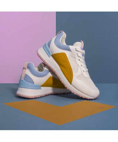 Pantofi Sport De Dama Zonis Albastru Cu Galben - Trendmall.ro