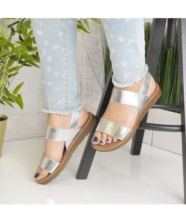 Sandale De Dama Sore Argintii - Trendmall.ro